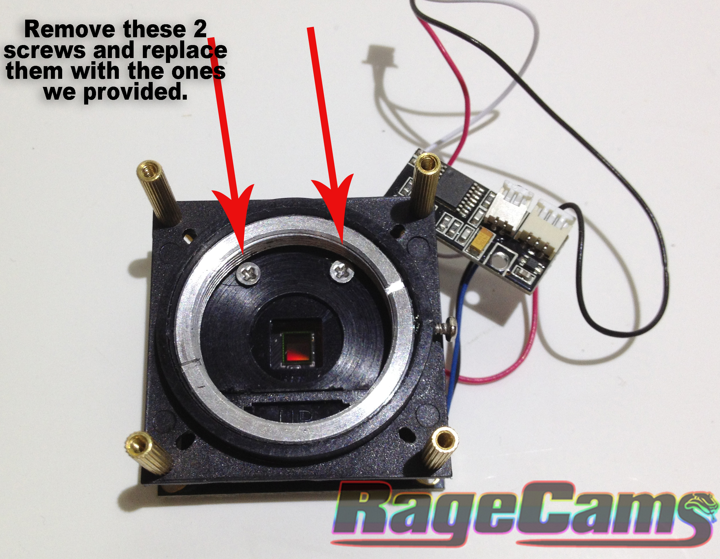 RageCams 2.8mm cs lens for the foscam fi8905w fixed iris | HD Wearable Video Custom Mods By RageCams