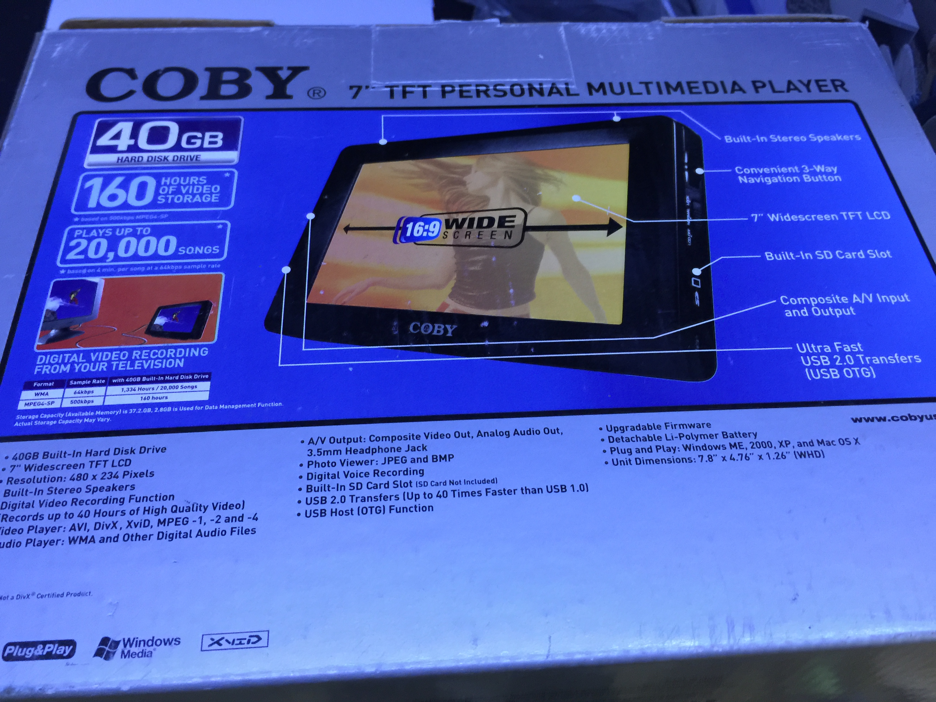Coby pmp7040 7