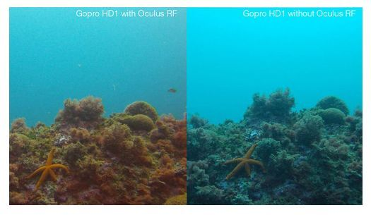 Oculus Red Filter 3d Underwater Color Correction Video Flat Lens